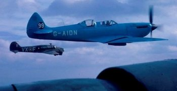 On 19 September 1964 G-AIDN was noted at RAF Gaydon still in its light blue colour scheme with the number 99 emblazoned on its tail. A half share of John Fairey's G-AIDN was sold to Tim Davies in 1967 , after which G-AIDN was based at Andover, and in 1976 the whole aircraft was sold to Mike S. Bayliss of Baginton, Coventry.