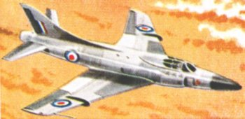 However, Duke's Hunter record was beaten as soon as 28 September 1953 by a Mark 4 Swift, another swept wing fighter powered by a Rolls Royce RA7 turbojet fitted with an afterburner. The Swift, built by Supermarine, the company responsible for the Spitfire, had been ordered by the British Air Ministry as a back-up for the Hunter development programme but while the Hunter went on to a long RAF career, export success and private preservation the Swift only equipped a handful of RAF squadrons. It did however, along with the Supermarine 508, provide the basis for the Supermarine Scimitar naval bomber. Back in 1953 though, Lt Cdr Mike J. Lithgow's Mark 4 Swift reached 735.5 in the skies over Libya where temperature and calm air conditions were optimum for supersonic flight