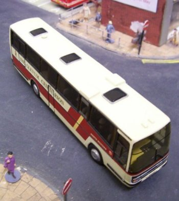 More generally, the bus models displayed at Brocklecote began life as white metal or brass kits which were either epoxy glued or soldered together - although some of the earlier examples were original Dinky Toys: heavily reconstructed but only about one third of the cost to buy