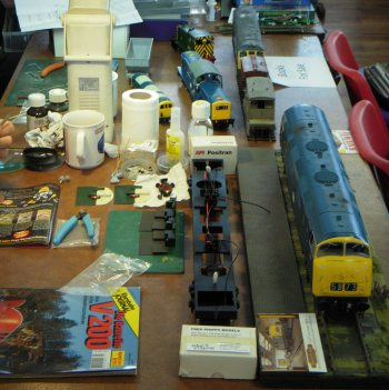 The April 2015 Cheltenham GWR Modeller's Exhibition also featured trade support from Cheltenham Model Centre, Clive Reid's pre-enjoyed model railways, Stewart Blencowe's Railway timetables, books, photos and slides, Castle Trains and the Festiniog Railway.
