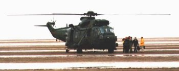 The Sea King display at Southport included a demonstration of abseiling from a helicopter - a vital skill for inserting airbourne troops into less than ideal positions. Already on the beach at this point were a Challenger 2 tank, AS90 self propelled guns, Warrior and Stormer tracked vehicles and Leyland National bus BVV 543T in the olive green drab of SaBRE (Supporting Britain's Reservists and Employers ) and Westland Gazelle helicopter XZ304. And finally, Jack Vettriano doesn't paint helicopters, but if he did...