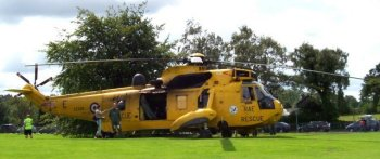 While rotors over Gloucestershire are not a new phenomenon, the severe flooding of the River Severn valley in July 2007 created a new bond between those afflicted by the rising waters and the century-old helicopter, most specifically in the form of the Westland Sea King.