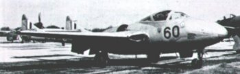 The Skyfame Vampire T II was obtained from Hawker Siddeley Aviation by arrangement with the British Aircraft Preservation Council and was in RAF service from 1954 to 1967, when it was replaced by the Folland Gnat of Kemble-based Red Arrows fame. Armament, as with the fighter/bomber Vampire was two 20mm canon and eight 60 lb rockets or two 500 lb bombs.