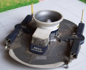 One of the larger artefacts at Skyfame was a Dowty built 11' diameter lift fan from a hovercraft. This model depicts the first full size realisation of Sir Christopher Cockerill's invention, which started as an experiment with a vacuum cleaner and two empty cat food cans!