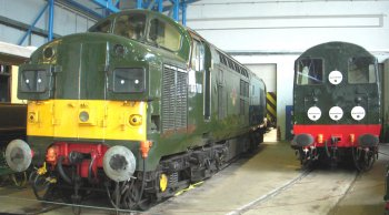 Less than 30 years later, Vulcan Foundry was producing the Class 37 Co-Co diesel electric locomotives which, as can be seen above, are still playing an important role on British railways in 2015.  The first of these, D6700, is now preserved and could be see in in another part of the Great Hall along with another classic English Electric design, Class 20 Bo-Bo diesel electric D8000.