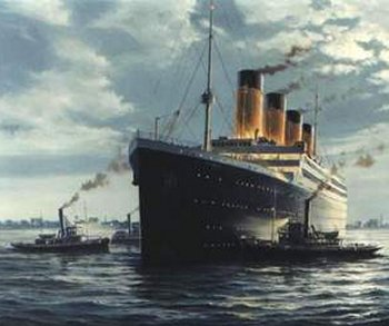 And talking of reversals of fortune, possibly the most well known mega ship in history, White Star's RMS TITANIC was the biggest in the World when it sank on its maiden voyage in April 1912. With a gross registered tonnage of 46 330 and a 269 metre length it was larger than its 45 330 ton sister OLYMPIC which went on to have a distinguished 24 year transatlantic career.