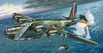 Perhaps some of the most enduring images of World War II at sea were thus of aircraft – like this Short Sunderland flying boat – attacking U-boats. Rather than just being armoured containers floating between the sky and the deep and thus vulnerable to attack from either direction while flinging out explosive shells, the new capital ships would either use aircraft as long range artillery or hide in the abyss ready to pounce.