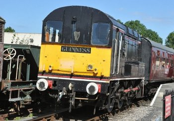 As we will see later, two large British Railways diesel locomotives in succession were to be named Lion, but Lion and Unicorn were also names applied to their six wheeled diesel shunters by the Guinness brewery at Park Royal in London. These ex British Railways Class 08 went on the booze in 1985 but today are recovering on the Cholsey and Wallingford Railway in Oxfordshire. Generally in this talk though I will be looking at British main line locomotives named after warships – foreign and industrial engines with naval links are a whole other topic!