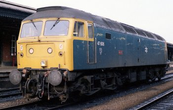 In 1995 diesel electric locomotive 47 832 Tamar shared its name with the Royal Navy's shore station in Hong Kong from 1897 to 1997 while from 2000 to 2007, 47 703 was named Hermes, having previously carried the names Saint Mungo, The Queen Mother and Lewis Carroll: proving that on today's railways a name is not for life, just as long as it is expedient and definitely no longer than an operating franchise. Back in the 1960s though, Western Region followed the previous practice of recycling Broad Gauge names on Britannia Pacifics by recycling them on brand new Brush Type 4s. Among the set that were also warships were Odin, seen here, Atlas, Orion, Colossus, Cyclops, Samson, Amazon and Vulcan.
