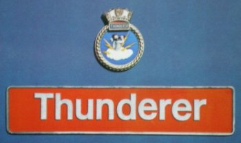 "50 008 ""Thunderer"" meanwhile was one of several English Electric Class 50s that featured the relevant warship crest above the nameplate whilst allocated to Western Region. These indicated that the locomotive had been officially twinned with the ship or shore establishment of their name, HMS Thunderer being the Keynsham based Royal Navy Engineering College. D408 itself was outshopped from Vulcan Foundry in March 1968 as 3778 / D1149 and was first allocated to the Western Lines division of London Midland Region. It was renumbered as 50 008 in February 1974 and named ""Thunderer"" in September 1978. Before then however the name ""Thunderer"" had been attached to LMS Jubilee 5703 and before that to a strange, short lived design of articulated single locomotive on the Great Western Railway. Its predecessor ""Hurricane"" had been built by R. & W. Hawthorn of Newcastle upon Tyne using the 1836 patents of Thomas Harrison and featured cylinders and running gear on one frame and the boiler on a six wheeled trailer, relying on ball-joint connectors to convey steam from one vehicle to another. The ""locomotive"" was thus a 2-2-2 with record setting 10' diameter driving wheels but although the design of ""Hurricane"" succeeded in minimising axle load its lack of adhesive weight doomed it to failure. Similarly unsuccessful was ""Thunderer"", a locomotive of the same pattern but with four 6' diameter geared driving wheels."
