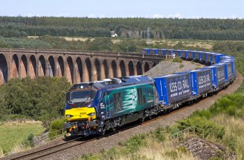 "The very latest class to carry Warship names however are the Class 68s, known officially by the makers Vossloh / Stadler of Valencia, Spain as UK Lights – being derived from their earlier continental Eurolights – and by trainspotters as Warskips, a riff on the Class 67s being known as Skips due to their angular styling. Introduced in 2012, the Class 68s are powered by a 3 750 bhp Caterpillar diesel engine making them the most powerful Bo-Bos in Britain and some are fitted with push-pull equipment to allow them to work on Chiltern Railways trains between Marylebone and Birmingham Moor Street. Of the 25 examples delivered by April 2016, only six have not been named with most of the named examples being warships. As far as I can tell there was no ship to match 68 001 ""Evolution"" – although Charles Darwin's Theory of Evolution developed on his voyage aboard HMS Beagle – but there is a familiarity about the names Rapid, Daring, seen here, Fearless and Superb. I must admit I did look twice at 68 017 Hornet, thinking of the American aircraft carrier, but this too has been a Royal Navy name from the first 14 gun sloop of 1745 to the stone frigate disbanded in 1956."