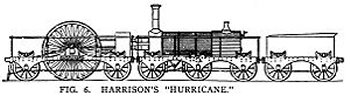 "Its predecessor ""Hurricane"" had been built by R. & W. Hawthorn of Newcastle upon Tyne using the 1836 patents of Thomas Harrison and featured cylinders and running gear on one frame and the boiler on a six wheeled trailer, relying on ball-joint connectors to convey steam from one vehicle to another. The ""locomotive"" was thus a 2-2-2 with record setting 10' diameter driving wheels but although the design of ""Hurricane"" succeeded in minimising axle load its lack of adhesive weight doomed it to failure. Similarly unsuccessful was ""Thunderer"", a locomotive of the same pattern but with four 6' diameter geared driving wheels. The first HMS Thunderer was launched in 1760 and the fourth in 1872, being a sister ship to HMS Devastation, the ship on the England's Glory match box. The fifth Thunderer was an Orion class battleship launched in 1911 and scrapped in 1927 after fighting at the Battle of Jutland while there has only ever been one HMS Hurricane, an H Class destroyer originally destined for Brazil before serving with the Royal Navy from 1940 to 1943."