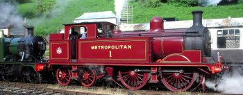 Like the London and South Western, the Metropolitan Railway was in the business of bringing commuters in and out of the Capital and used tank engines with rapid acceleration.