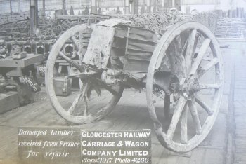 However, even before this auspicious centenary, I had noticed that some of the horse drawn gun limbers used by the British Army during the First World War were built by the Gloucester Railway Carriage and Wagon Company Limited. And that one such limber – a wheeled artillery shell box with seats for the gunners on top coupled between the gun itself and the horses – was a part of the Airfix 1/76 scale Royal Horse Artillery set.