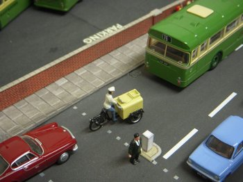 "Vincent brought his Southdown Bus Garage diorama which was packed with incidental detail including the Langley Models white metal tricycle in the livery of Wall's Ice Cream's ""Stop Me and Buy One"" - never a marketing strategy adopted by the London Rubber Company."