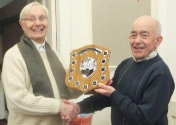 Our December meeting took the now-traditional form of a raffle and buffet following the photographic print competition for The Les Tibbetts Memorial Shield. In 2016 this was again won by Branch member Ted Tedaldi with a dramatic picture of the Torshavn registered self unloading general cargo ship Kalkvik with a cargo of china clay being turned by the tug Cannis at Fowey, Cornwall, on the afternoon of 19 August 2016.