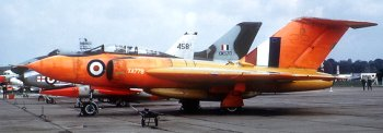"The most ""mixed up"" Javelin, known as the Amber Gambler, was XA778, basically a Mark 2 which was used in 1958 for the missile carrying trials."