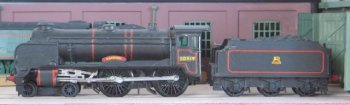 """The 4-4-0 was not available between the sale of the moulds to Airfix in 1962 and a re-launch under that brand name in 1968, when it was again supplied with the """"Harrow"""" name but with the decals for the cabside number 919 and the word """"SOUTHERN"""" on the tender."""