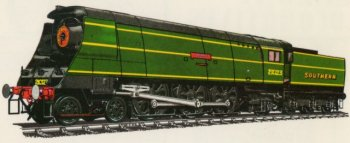 Like the 1941 vintage Merchant Navies, the Southern Railway's 110 light pacifics needed a great deal of maintenance to keep them in good working order as they were prone to oilbath fires and slipping - especially on leaving Waterloo where sanding was forbidden due to the presence of electrified third rails