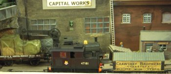 Capital Works was in 1919 mode with Whippet tanks passing over the bridge from Morland and Anderson. They were to have been joined by a diorama of a Great War tank repair depot in France but this had to be left at home when space considerations meant that Capital Works ended up in a corner.
