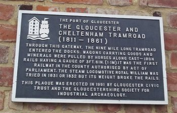 Similarly, the Gloucester and Cheltenham Tramroad opened in 1811 but in 1861 it closed and the plates were scrapped.