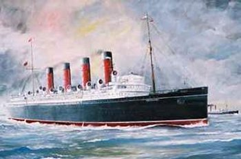 This was the Cunarder RMS Mauretania en route from New York to Liverpool although passengers who took the special non-stop express train from Fishguard to Paddington would have made New York to London in a record 5 days, 3 hours and 32 minutes.