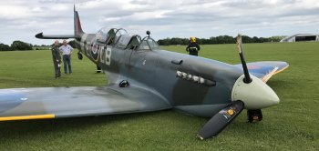 Following a £3 million three year recovery and restoration project by Aero Legends, NH341 flew for the first time in 73 years on 8 April 2017 from the Imperial War Museum's Duxford Aerodrome with John Romain at the controls