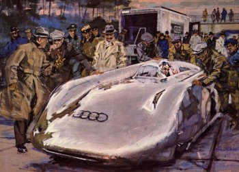 "Germany stopped painting its cars white in 1934 - apparently to save the weight of paint - and the Reich's racing teams became known as ""silver arrows""."