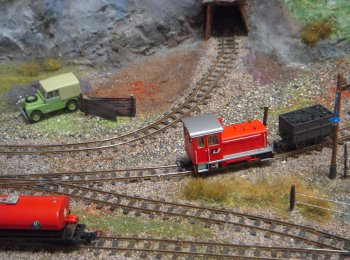 Hillside Mine was David and Sue Griffin's second layout situated in the fictional location of Hillside in mid Wales. The scale of both is 4mm with narrow gauge track to 009 specifications.