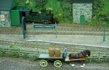 This layout depicted the Lynton and Barnstaple terminus in the middle of the 1920's as re built by the Southern Railway.