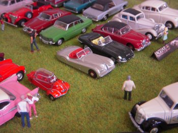 This diorama is a small representation of the Southdowns Bus Rally and Vintage Show