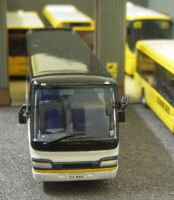 Travel 2000's depot meanwhile featured an unusual Oriental resident. The pictured 1/76 scale model is Club Busrama/ Creative Master 1/76th and represents a Hino S'elega. This is Japanese and thus right hand drive.